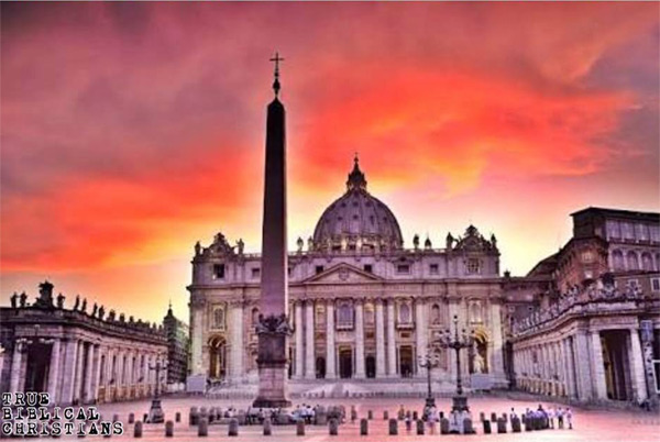 During the sunrise on the Vernal Equinox, the sun causes the obelisk to cast its shadow towards the dome of St. Peter's Basilica, which represents the sexual union of the sun god and moon goddess.