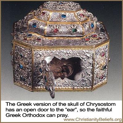 Greek version of the skull of Chrysostom