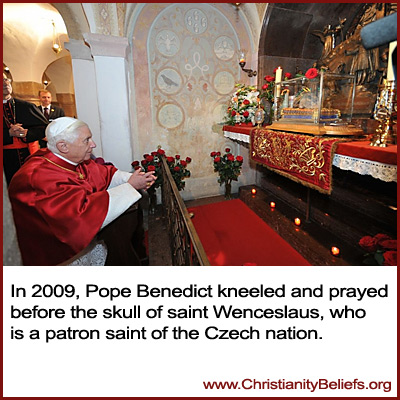 Pope Benedict prayed to the skill of Saint Wenceslaus
