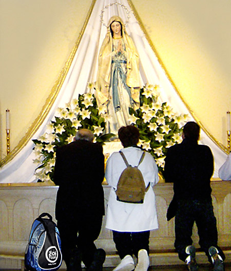 Mary Statue, Saint James Church in Medjugorje